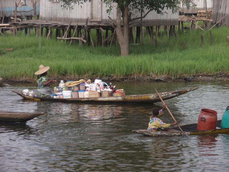 122_Ganvie Lake Community  Lake Nokoue  Small Floating Markets