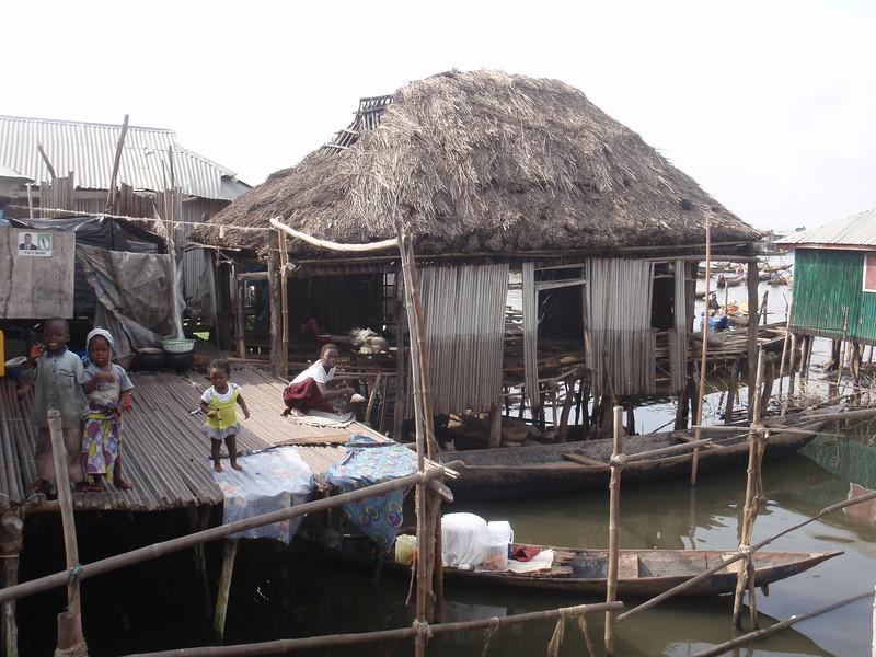 103_Ganvie Lake Community  Lake Nokoue  Bamboo Huts on Stilts