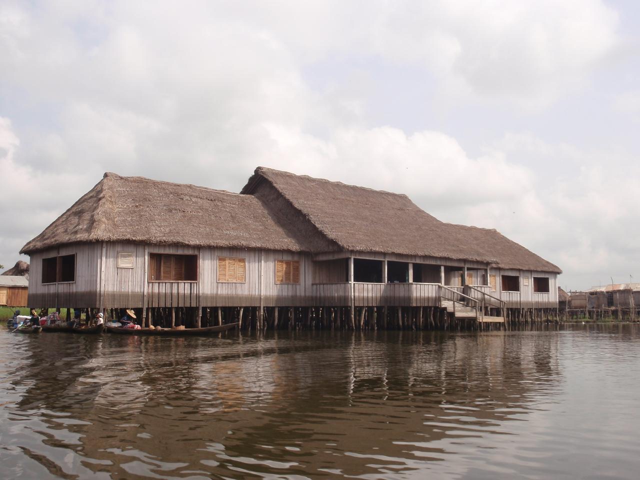128_Ganvie Lake Community  Lake Nokoue  Bamboo Huts on Stilts