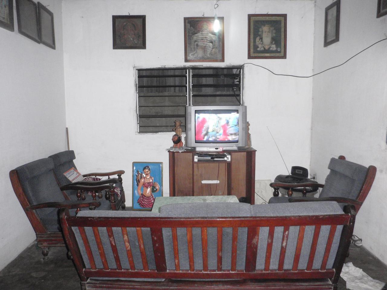 140_Cotonou  Voodoo Ceremony  Living Room next to the Shrine