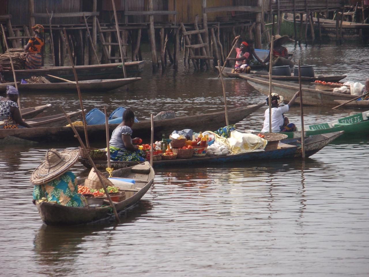 121_Ganvie Lake Community  Lake Nokoue  Small Floating Markets