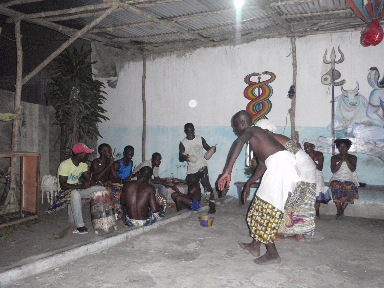 143_Cotonou  Voodoo Ceremony  Percussions, Chants, Devotion