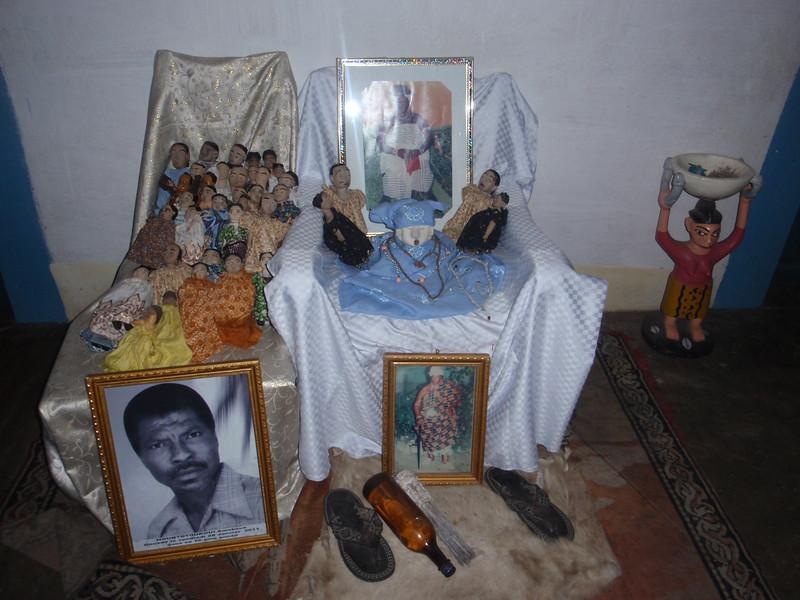 139_Cotonou  Voodoo Ceremony  A Shrine