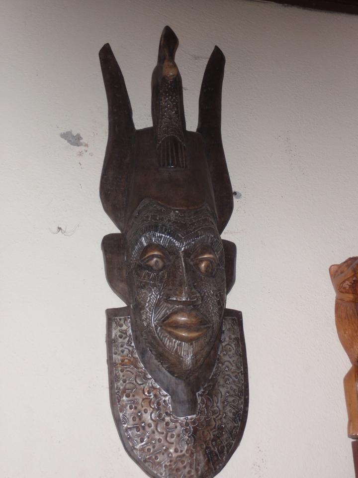 150_Cotonou  The Craft Market  Woodcarvings  Mask
