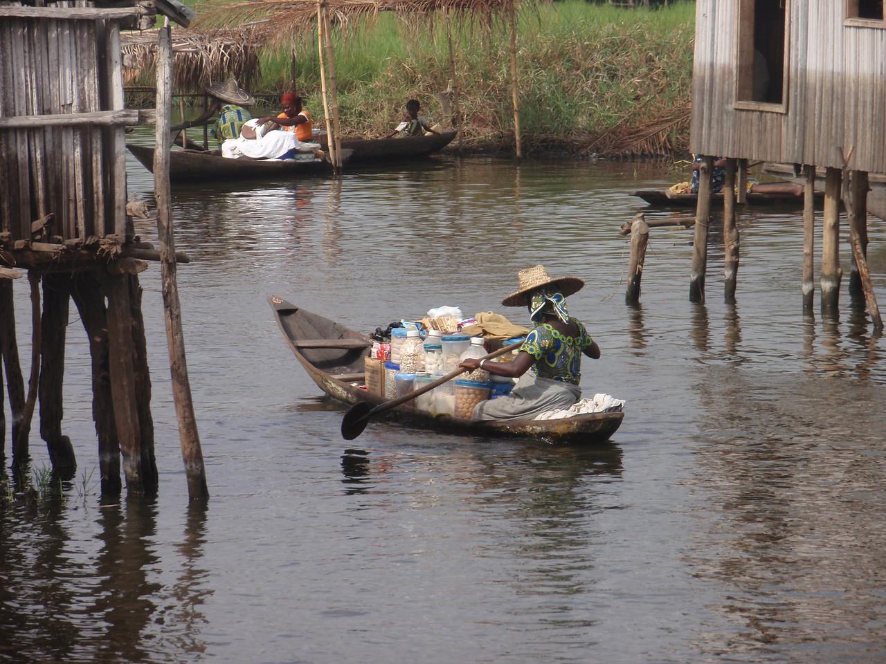 120_Ganvie Lake Community  Lake Nokoue  Small Floating Markets