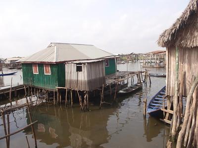 102_Ganvie Lake Community  Lake Nokoue  Bamboo Huts on Stilts