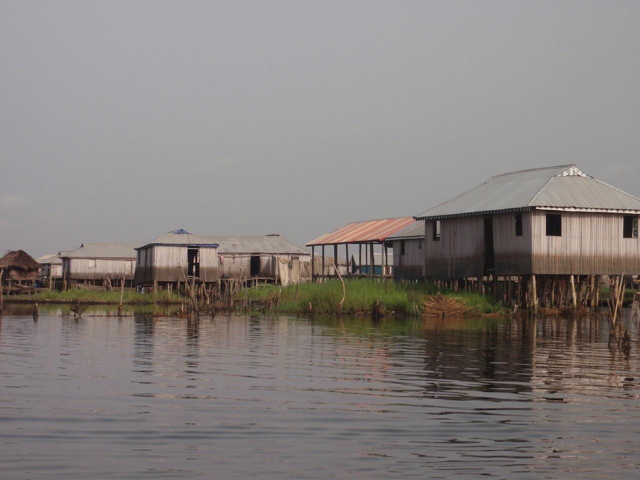 086_Ganvie Lake Community  Lake Nokoue  Bamboo Huts on Stilts