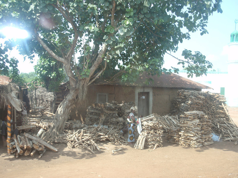 067_Between Cotonou and Abomey  Wood for Sale