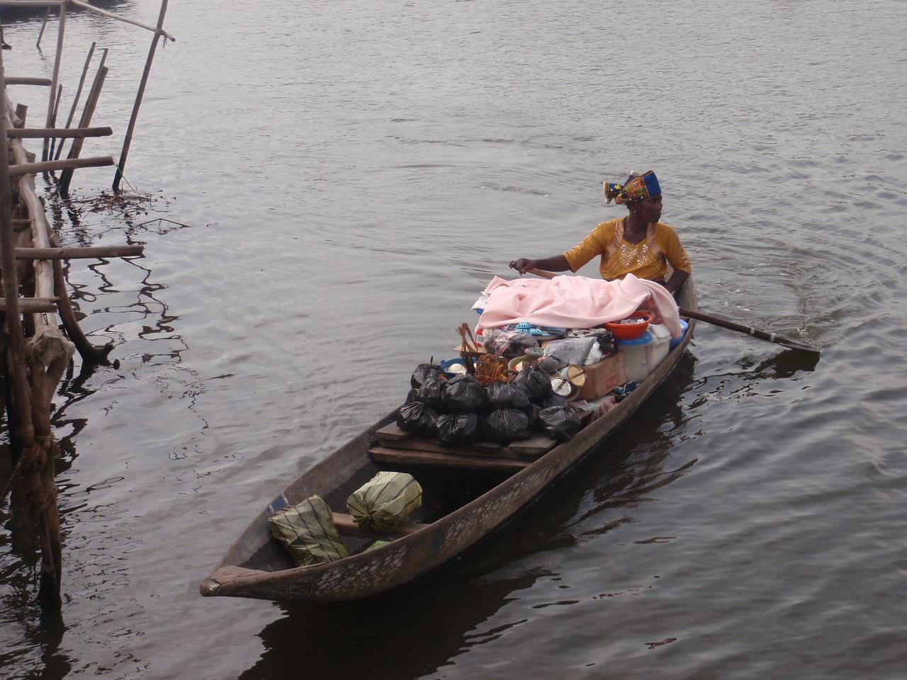 123_Ganvie Lake Community  Lake Nokoue  Small Floating Markets