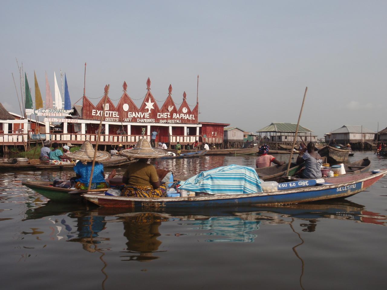 088_Ganvie Lake Community  Lake Nokoue  Small Floating Markets