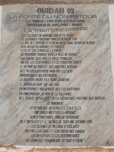 017_Ouidah  La Porte du Non-Retour  La Traite Negriere
