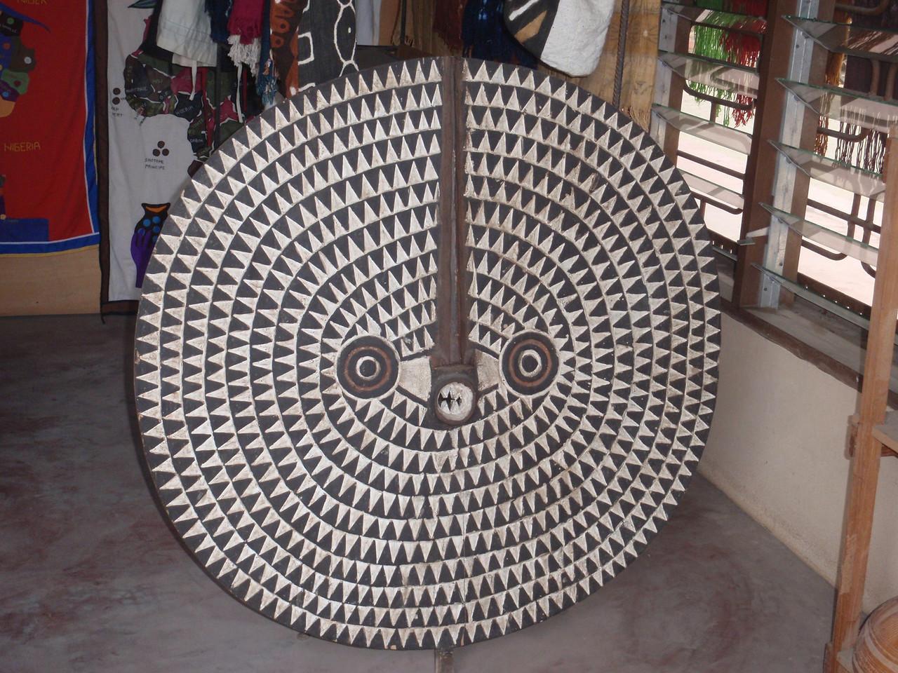 157_Cotonou  The Craft Market  Woodcarvings  Mask