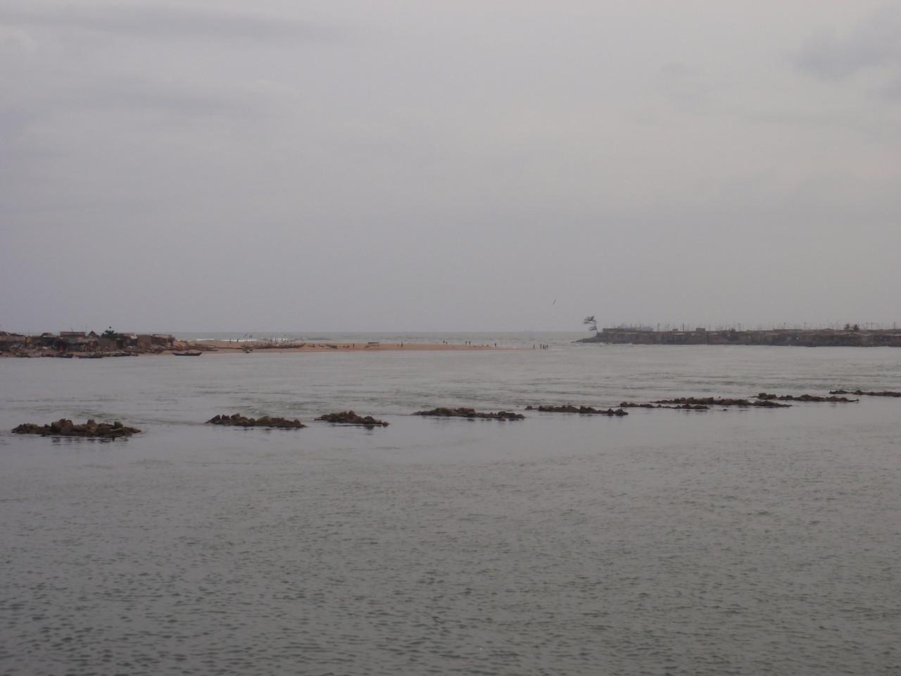 137_Cotonou  The Cotonou Lagoon Meets the Gulf of Guinea