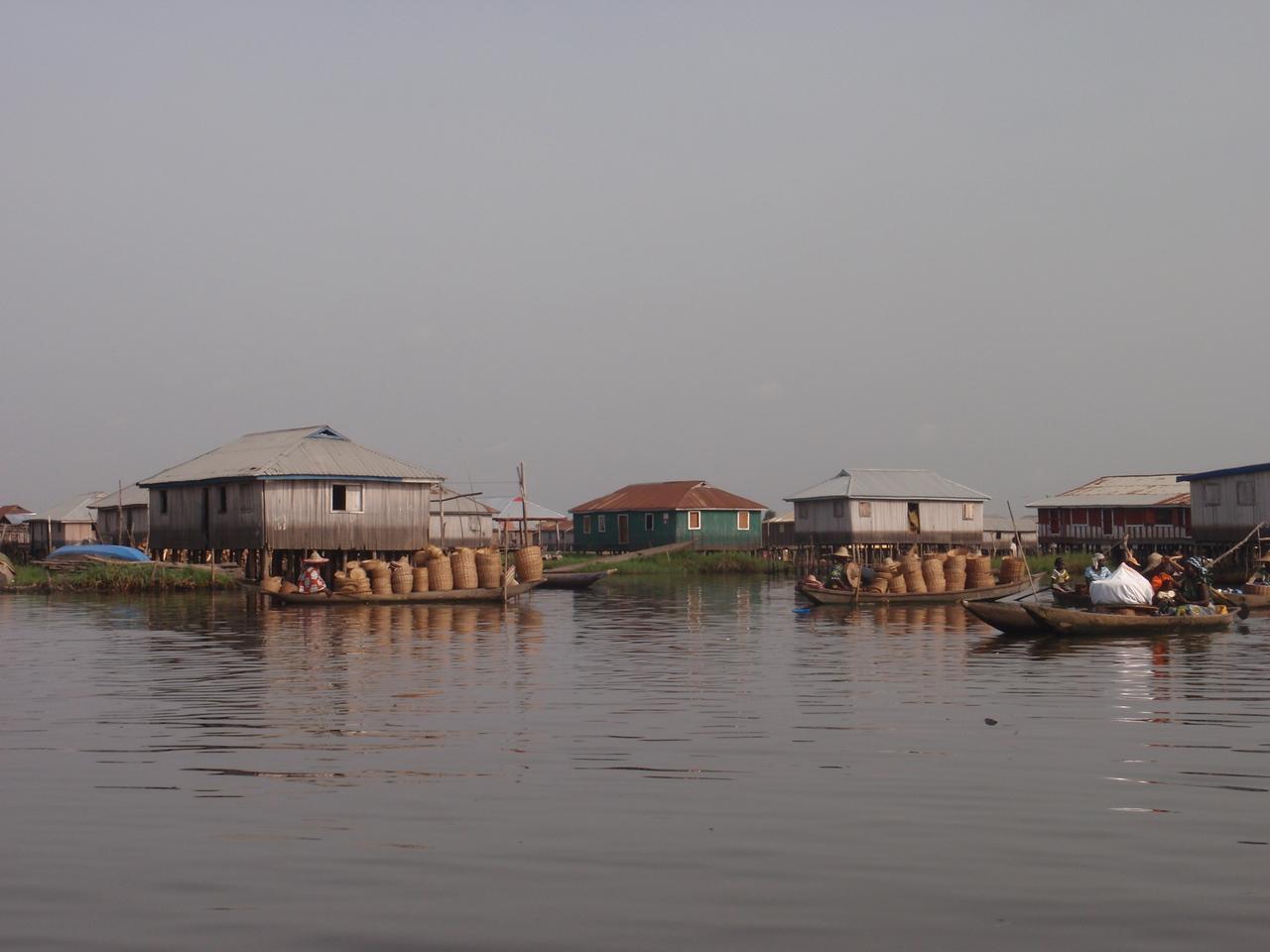 087_Ganvie Lake Community  Lake Nokoue  Bamboo Huts on Stilts