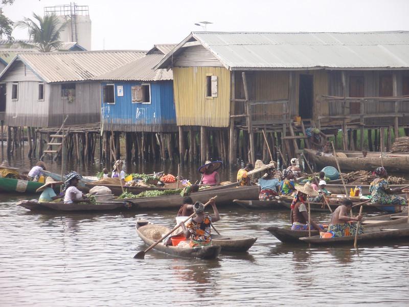 112_Ganvie Lake Community  Lake Nokoue  Small Floating Markets