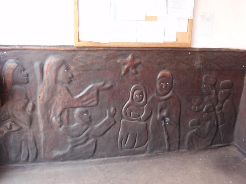016_Navrongo  Church  Naive Style Bas-Reliefs of Biblical Scenes