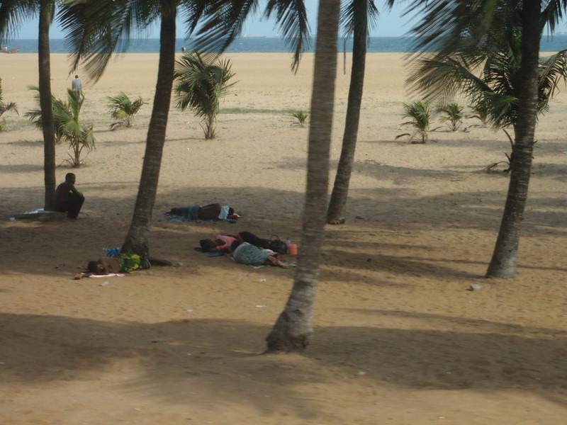 020_Lome  The Beach  Sleeping