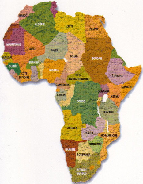 002_African Continent Map  Malawi Population 15 million