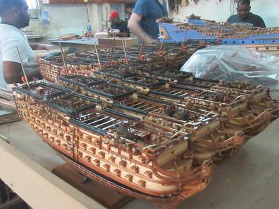 055_Curepipe  L'importance des traditions  Maquettes de voiliers anciens