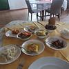 141_Buffet tipik (en créole)  Batter-fried parrotfish, tuna steaks and chicken curries