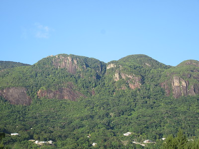 020_Mahé Island  Dominated by a mountain range that forms the backbone of the island