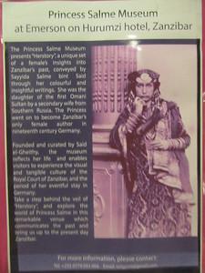 140_Zanzibar Stone Town  Princess Salme Museum