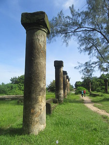 292_Mahurubi Palace  Columns that supported the Wooden Balcony surrounding the Upper Floor