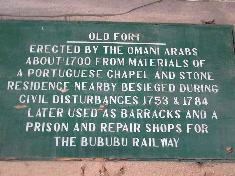 039_Zanzibar Stone Town  The Arab Fort  1699