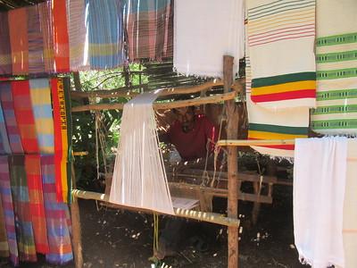 391_Bahir Dar  Lake Tana  Zeghie Peninsula  Ura Port  Knitting, a man task