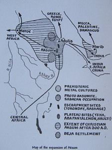 018_Axum  Used to include Ethiopia, Part of Sudan, Erthea, Djibouti, Part of Somalia  Extended well into Arabia