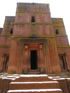 282_Lalibela Rock-Hewn church  Beta Ghioghis  The main Entrance  West opening