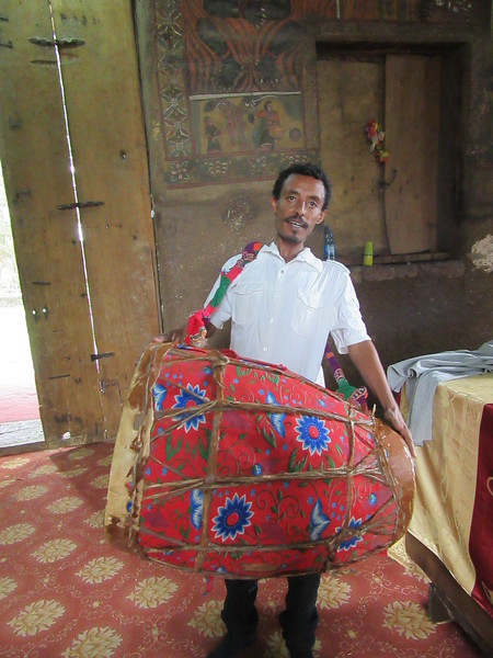 377_Debre Birhan Selassie Church  St  Yarid instrument, The Drum  Smaller end, Old Testament  Bigger end, New Testament
