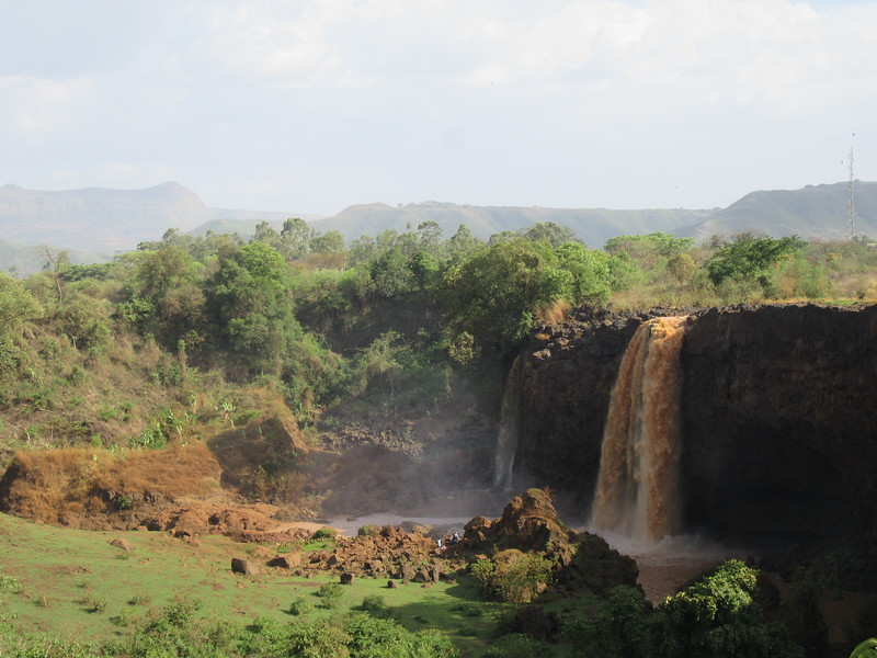 433_The Blue Nile Falls  Local name, Tis Isat (Water that Smokes)  Dammed by a nearby hydroelectric project