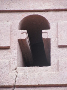 241_Lalibela Rock-Hewn church  South-Eastern Group  Beta Emmanuel  Axumite design (tête de singe)