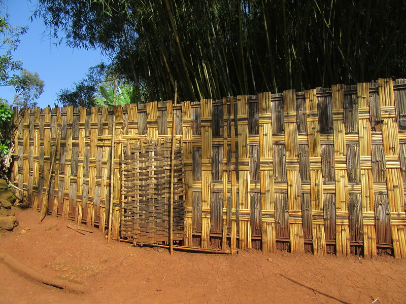 630_Dorze Village  The Bamboo Fence  Intertwine Bamboos  Will stay strong for a long time