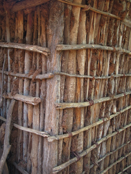 700_Konso  Mechelo Walled Village  Ready to be plastered with mud (straws, water and mud)