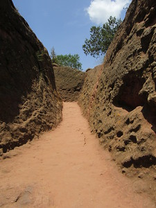 275_Lalibela Rock-Hewn church  Beta Ghioghis  Trenches  On Timkat (Epiphany) 150,000 will pass here in one day