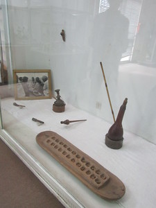 506_Addis Ababa  National Museum of Ethiopia  Tobacco Pipes and Games  Calcahah Board Game