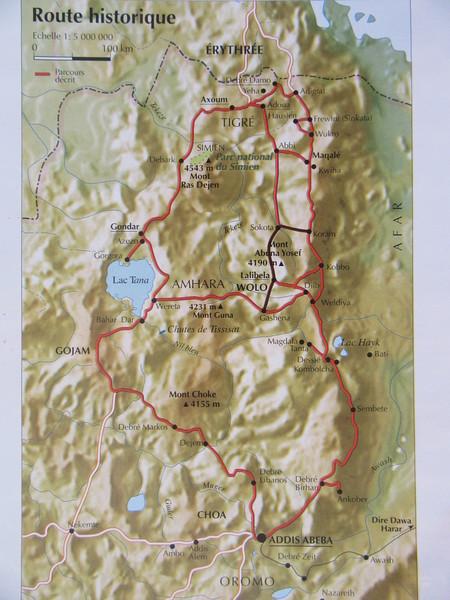 014_La vaste régions des Hauts Plateaux (Massif central du Nord)  Ancien royaume d'Abyssinie  La Route Historique