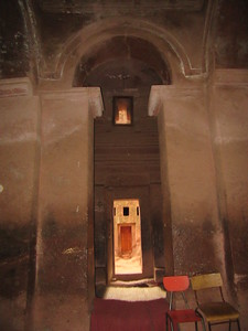 245_Lalibela Rock-Hewn church  South-Eastern Group  Beta Emmanuel  Axumite design (tête de singe)