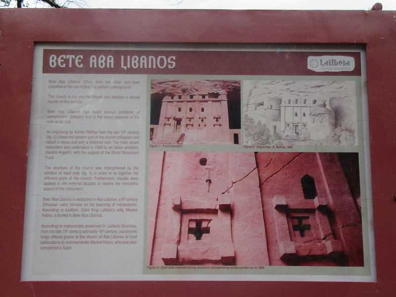 254_Beta Aba Libanos (6th C Saint)  Differ from other churches, it is partially underground  Carved into a Cliff Face