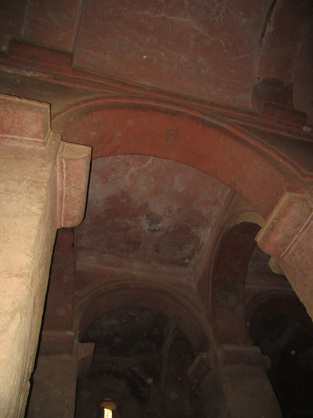 176_Bete Medhame Alem  Doors, windows, pillars, lintels, vaults are all cut within the rock, as to resemble a building