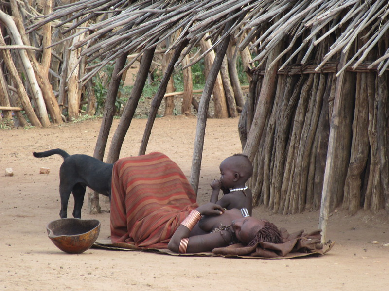 781_Omo Valley  Turmi  Hammer Village  On average 3 children per wife