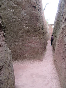 230_Lalibela Rock-Hewn churches  South-Eastern Group  Trenches