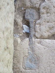 078_Axum  Tomb of False Door, 4th C AD  Metal Clamps
