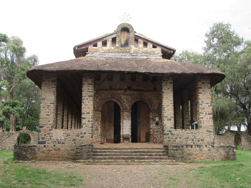 367_Debre Birhan Selassie Church  Dedicated to the Holy Trinity  Roof is made of grass, needs to be change every 5 years