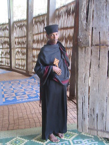 396_Bahir Dar  Lake Tana  Zeghie Peninsula  Ura Kidane Mehret Monastery  Ethiopian-Orthodox Priest and Hand Cross