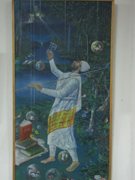 376_Debre Birhan Selassie Church  1682-1706  Saint Yarid, the man who created music in Ethiopia  6th C AD  3 Instruments