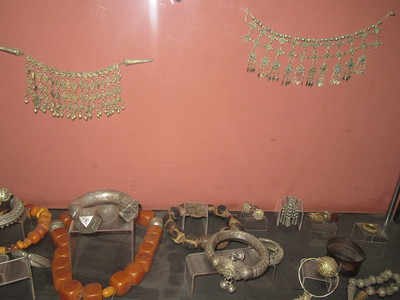 510_Addis Ababa  National Museum of Ethiopia  Jewelry, necklaces from southern part of Ethiopia