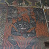 375_Debre Birhan Selassie Church  1682-1706   Hell  On Canvas, Goat Skin  Only natural pigments, using a porcupine brush